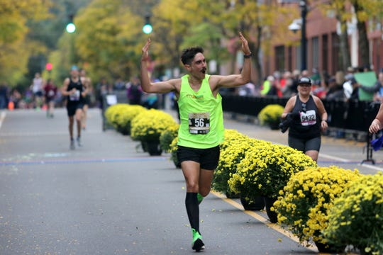 Runners complete the Wineglass Marathon on Oct. 6, 2019 in Corning.