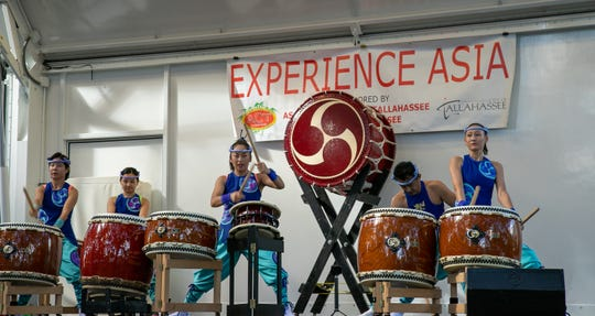 Matsuriza Taiko Drummers show off their talent in a rousing performance of the ancient Japanese art form.