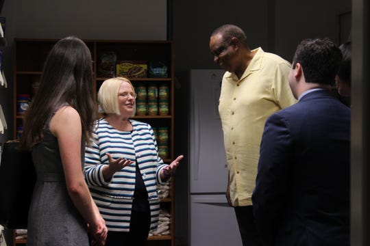 Rep. Al Lawson (D-Leon) visited Florida State's food pantry to learn how it benefits FSU students.