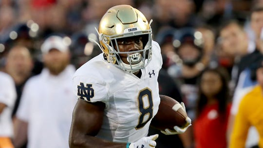 Notre Dame running back Jafar Armstrong  rushed for 377 yards and seven touchdowns last season.