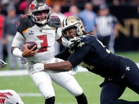 Saints' 3 Takeaways: 6 sacks of Winston, a shutout of Evans, and Bridgewater blossoms