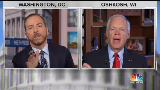 "U.S. Sen. Ron Johnson blasts the CIA and FBI in a combative interview on NBC's ""Meet the Press"" Sunday."