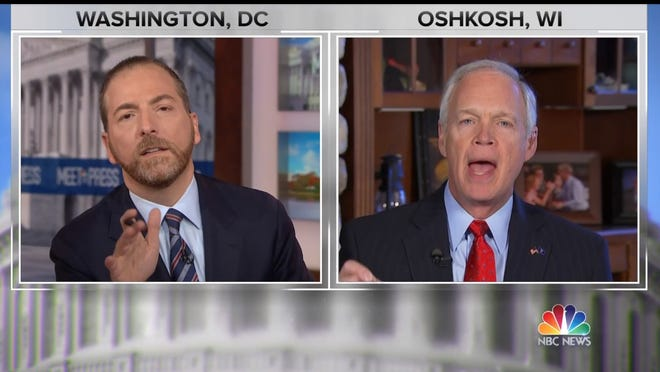 """U.S. Sen. Ron Johnson blasts the CIA and FBI in a combative interview on NBC's """"Meet the Press"""" Sunday."""