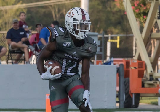 ULM wide receiver Markis McCray made four receptions for 49 yards in a 24-14 win at Texas State on Thursday night. The Warhawks were down two starters out wide.