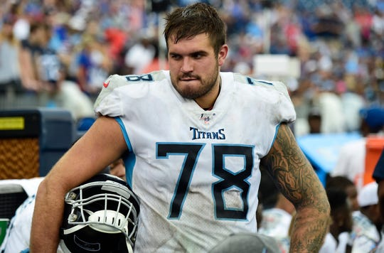 Tennessee Titans offensive tackle Jack Conklin