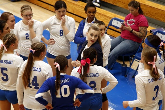 Highlights of the Carlsbad Cavegirls match against Chaparral on Oct. 5, 2019. Carlsbad won in straight sets.