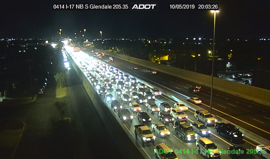 All traffic must exit at Glendale Ave. traveling northbound on I-17 due to a fatal crash involving a pedestrian.
