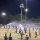Can't rain on their parade. Tempe high school band keep playing despite sprinklers
