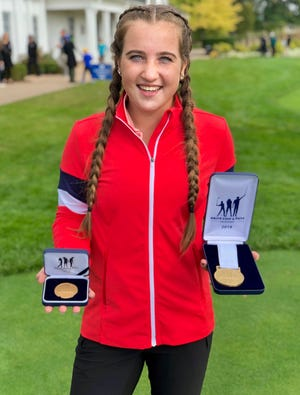 Port Huron Northern sophomore Madison Bajis become the second alternate during the Drive, Chip and Putt regional Saturday, Oct. 5, 2019, at Oakland Hills.