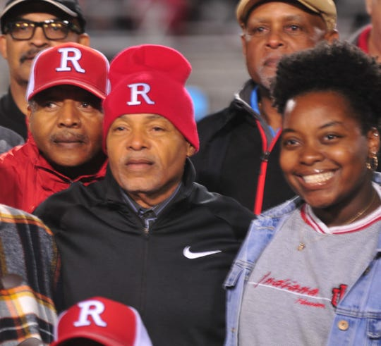 Vince Allen was honored and joined by his family at halftime of Richmond High School's football senior night on Friday, Oct. 4, 2019.