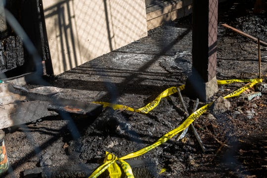 Investigators are still searching for what caused a fire at Courtside Manor Apartments in Keizer, pictured on Oct. 5, 2019. The Durkin family lost their home of 4 years after a fire consumed their home on Oct. 3, 2019.