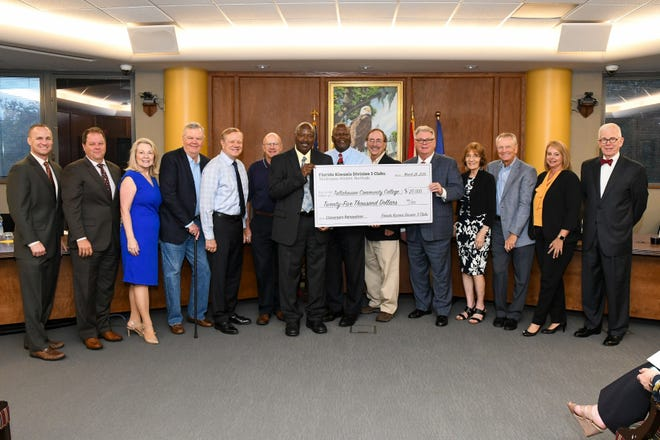 The Florida Kiwanis Foundation presented a $25,000 check to the Foundation at TCC's District Board of Trustee's meeting in August.
