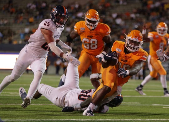 UTEP scored its first touchdown in the third quarter against UTSA on Saturday, Oct. 5, 2019 at the Sun Bowl in El Paso, Texas.
