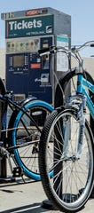 Commuters can ride their bikes to a Metrolink station.