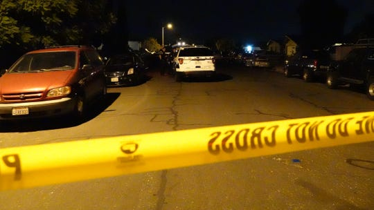 This was the scene late Saturday after a person was fatally shot in the 3000 block of Merced Place, located south of Channel Islands Boulevard and west of Rice Avenue in southeast Oxnard.