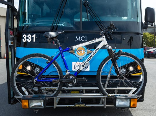 Bus riders' bicycles can be accommodated on Ventura County Transportation Commission buses.