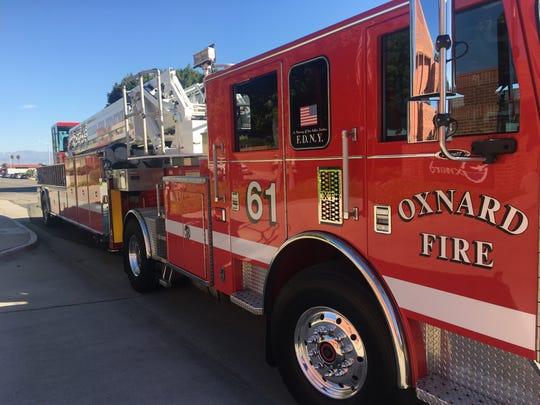 An Oxnard Fire Department vehicle.