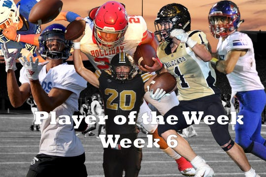 Nominees for Player of the Week are Abraham Nevarez, Knox City, Reece Essler, Henrietta, Trey Brown, City View, Tristin Boyd, Holliday, and Keegan Beaver, Archer City.