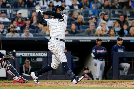 Westlake Legal Group 3a80cd0d-9a38-4f70-a920-2cb701bde702-USATSI_13467270 Didi Gregorius hits grand slam, Yankees rout Twins to take 2-0 ALDS lead