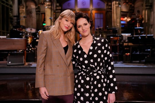 "Phoebe Waller-Bridge was host and Taylor Swift served as musical guest on the Oct. 5 episode of ""Saturday Night Live."""