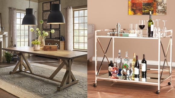 Save on kitchen tables, bar carts, rugs, and more with this incredible furniture sale.