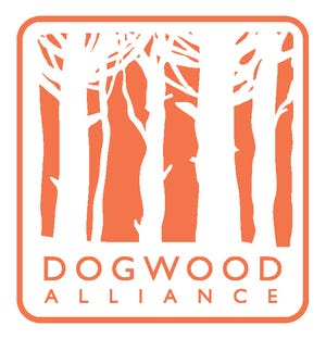 The Dogwood Alliance uses a logo that's more representative of a forest rather than its namesake tree because the nonprofit is focused on preserving entire forests.