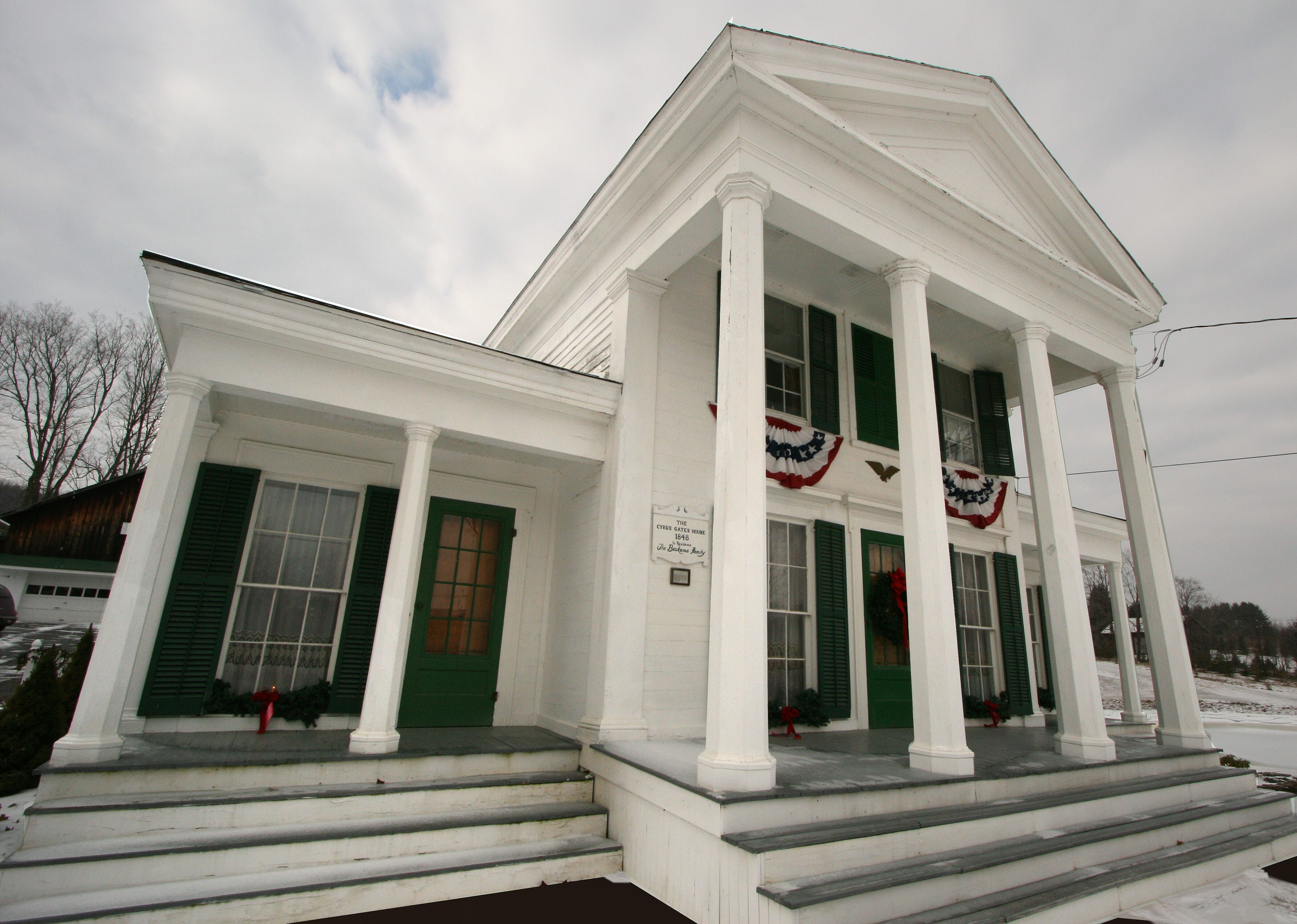 The main house on the Cyrus Gates Farmstead, shown in 2008.