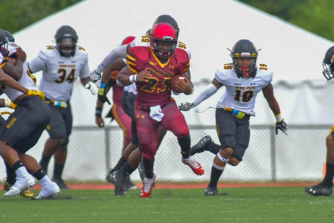 Black Mountain native Sidney Gibbs earned Rookie of the Week honors in the Central Intercollegiate Athletic Association for his 127-yard performance against Edward Waters College on Sept. 28.