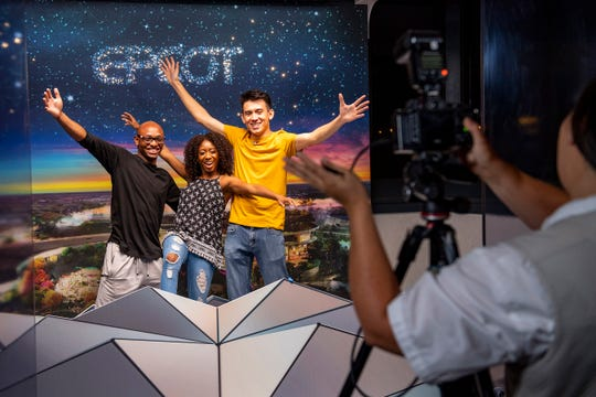 Walt Disney Imagineering presents the Epcot Experience inside Epcot at Walt Disney World Resort. Located in the Odyssey Events Pavilion, the Epcot Experience provides the first in-depth look at the historic transformation already underway at Epcot. Guests can have their pictures taken at special dimensional photo opportunities, including a location that makes it appear they're standing atop the iconic Spaceship Earth geosphere.