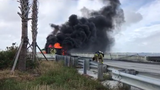 Westbound Pineda Causeway was closed between Merritt Island and the mainland around noon Oct. 7, 2019, after a crash involving a tractor-trailer.