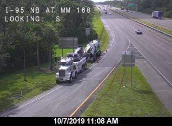 Highway officials reported a crash on Interstate 95 in Brevard County blocked lanes south of Malabar Road Northeast.