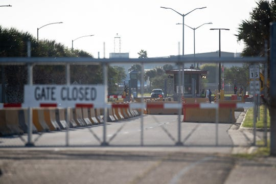 Naval Air Station-Corpus Christi's north gate was closed on Monday, Oct. 7, 2019, after an unauthorized person entered the base leading to a lockdown. The suspect was later taken into custody. The incident prompted the base and nearby Texas A&M University-Corpus Christi to go on lockdown.