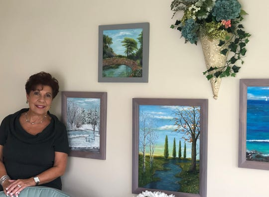 Jeanie Conti Speckmann created much of the artwork hanging on the walls of her Mount Laurel home. In addition to painting and singing, Speckmann's creativity fueled a long career as an interior designer.