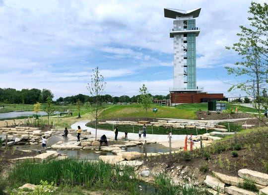 The 130-acre Summit Park in Blue Ash, Ohio was one of two recreation areas in the city vandalized with spray-painted graffiti in recent weeks.