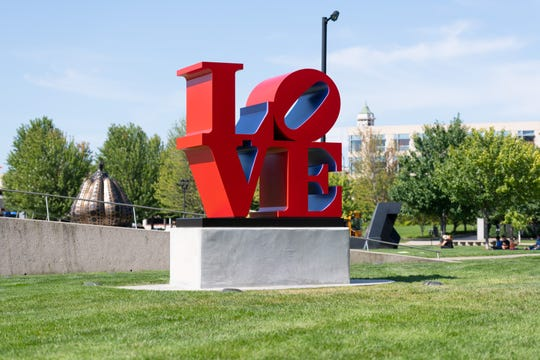 The John and Mary Pappajohn Sculpture Park in downtown Des Moines.