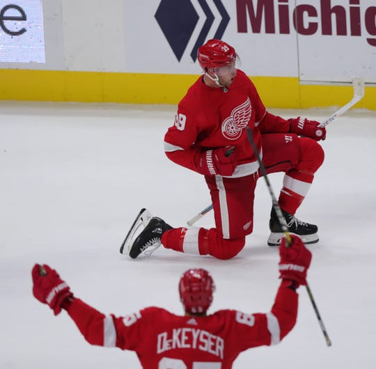 Anthony Mantha is the only Detroit Red Wings player who has scored on the power play this season.
