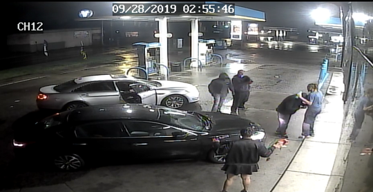 Detroit police are searching for three suspects, seen in black clothing, in connection to a Sept. 28 carjacking on the city's west side