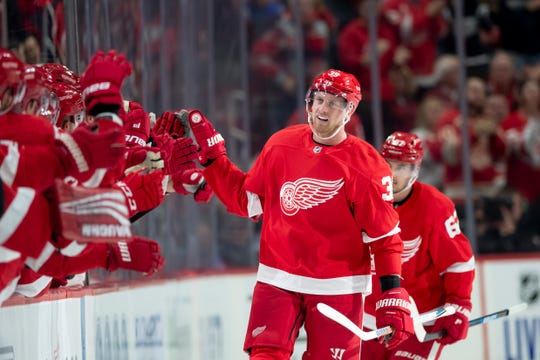 Red Wings forward Anthony Mantha has seven points in the first two games this season.