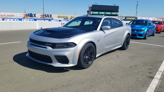 Taking the family sedan on track. At Sonoma Raceway in California, the 2020 Dodge Charger Widebody Hellcat feels right at home.