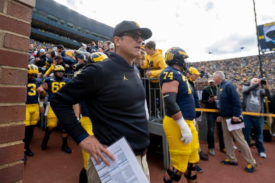 Michigan head coach Jim Harbaugh says college football players should be eligible to enter the NFL Draft at anytime, and be able to return to school if they go undrafted.