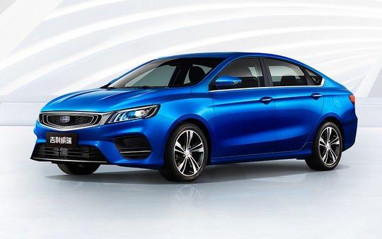 """Geely's Bin Rui """"sporty compact sedan."""""""