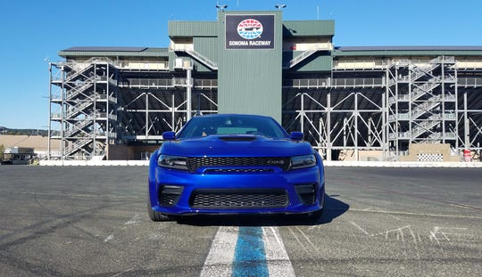 "The 2020 Dodge Charger Widebody Hellcat sports the ""mailbox"" front grille — sharp design meets more air for the engine."