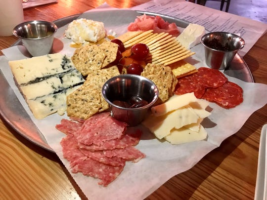 A charcuterie platter from Eight-Foot Brewing in Cape Coral.