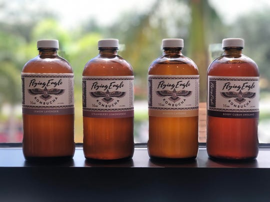 Flying Eagle Kombucha  in Fort Myers offers four flavors in its standard rotation, as well as seasonal specialties.