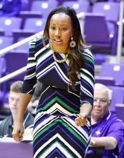 Furman women's basketball coach Jackie Carson
