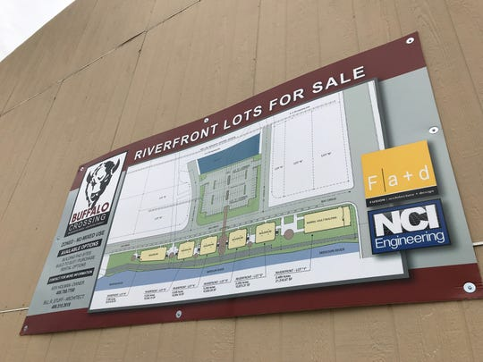 Lots along the Missouri River and Bay Drive  off Central Avenue Weste are being marketed as mixed-use with commercial on lower floors with the possibility of residential on upper floors.