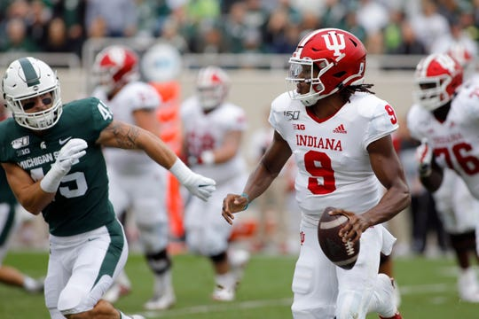 Indiana quarterback Michael Penix Jr. gave the Hoosiers offense a jolt in a close loss at Michigan State.
