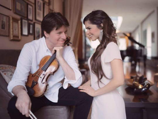 Joshua Bell and Larisa Martinez were married Saturday in suburban New York.