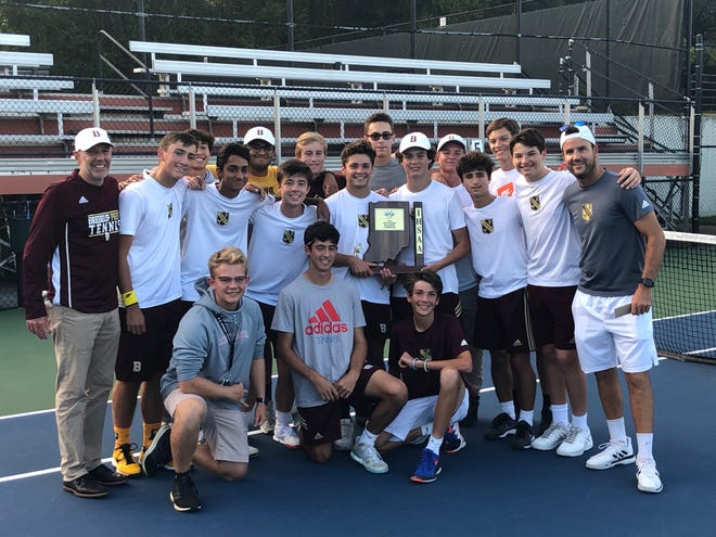 The Brebeuf boys tennis team beat Park Tudor in the sectional finals for the first time in a decade.