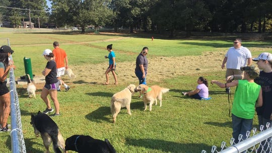 Pet owners can bring their dogs to the newly opened Bark Park in Clinton.